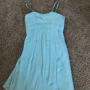 Teal David's Bridal Dress